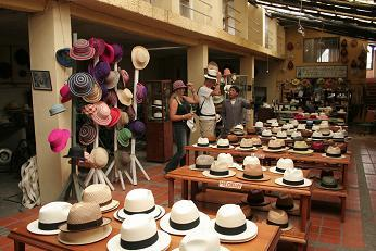 Typical Panama Hat store in Cuenca