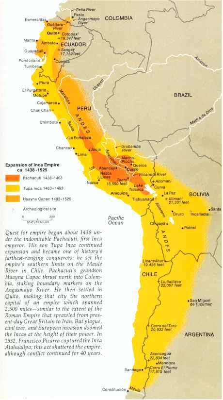 Map of Inca Civilization