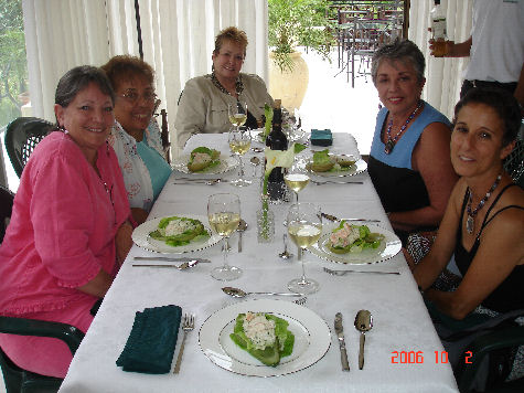 Luncheon with friends Georgiann, Olga, Helen, me and Kitzie