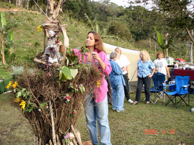 Women's party for Elizabeth's birthday, on her coffee plantation