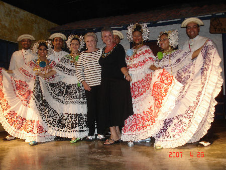Mother and I at with Pollera Dancers