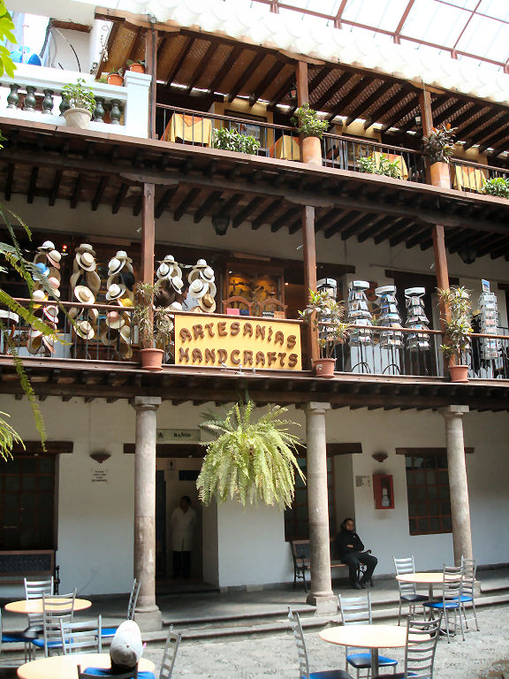 Colonial shopping arcade in Quito