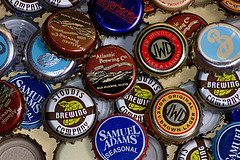 many microbrewery caps