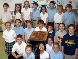 Mrs. Coles 4th grade class - St. Bernadette's - Omaha, NE - Penny Portrait