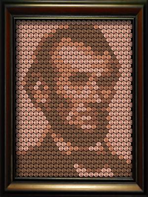 Abraham Lincoln Penny Portrait Kit Unique Diy Craft Wall Art