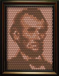 Framed Penny Portrait - Abraham Lincoln