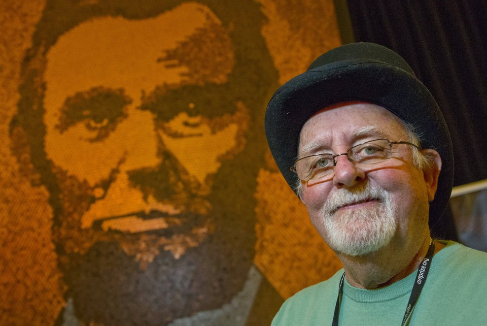 Giant Penny Portrait of Abe Lincoln