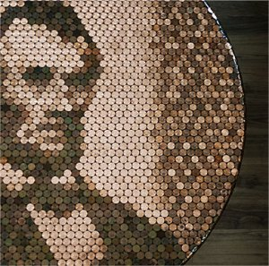 Abe Lincoln Penny Portrait Table