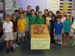 Mrs. Dupes 2nd Grade Class Penny Portrait - Corkscrew Elementary, Naples FL.