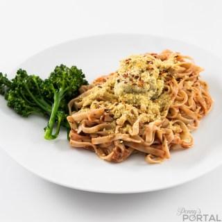 Gluten-free Fettuccine & Broccolini (with marinara & tofu ricotta)