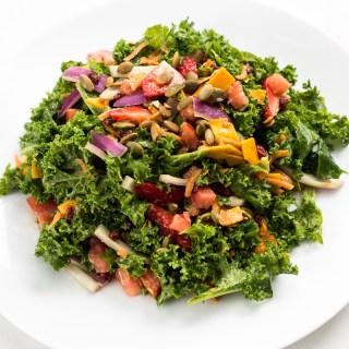 Colorful Kale & Avocado Salad