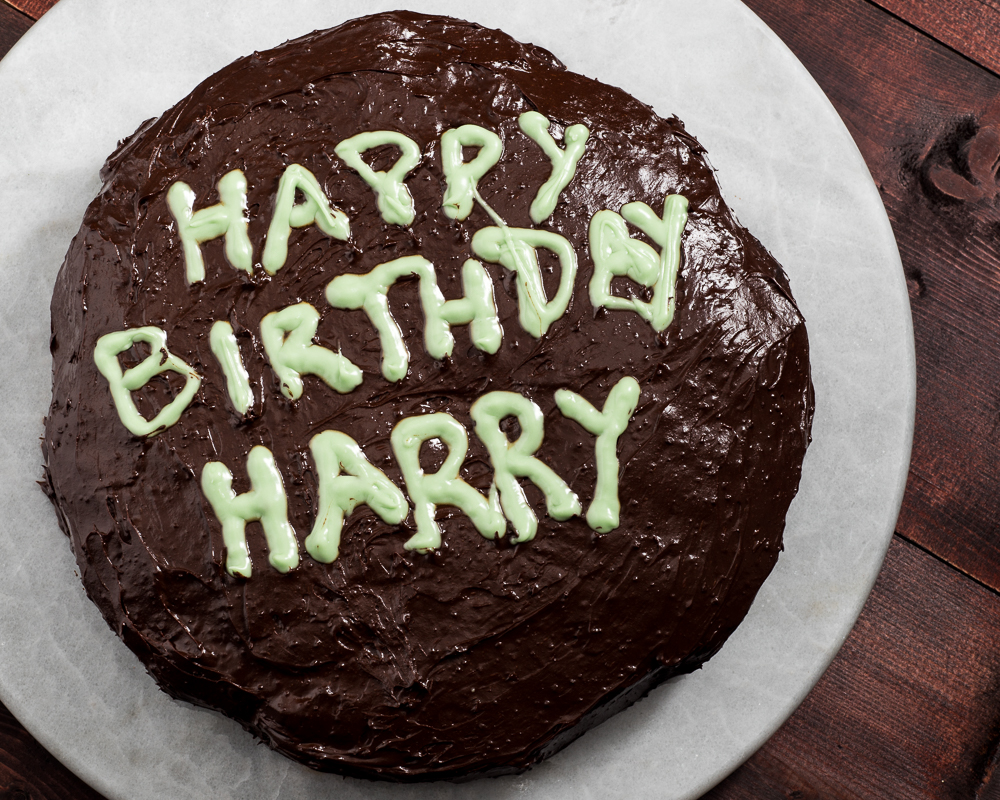 Today Is Harry Potters Birthday To Celebrate I Made A Vegan And Gluten Oil Free Chocolate Cake