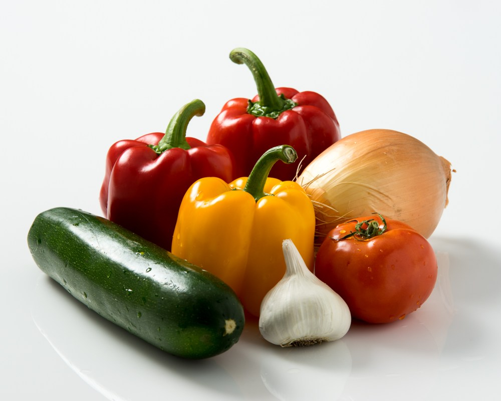 Veggies on a white background