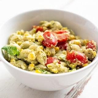 Cooking Adventures: Vegan Hemp Seed Pesto Pasta Salad