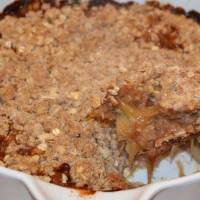 Rhubarb Crumble With Oats