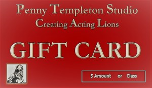 Acting Class Gift Card from Penny Templeton Studio in NYC