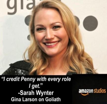 ad for Sarah Wynter on Goliath