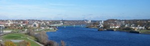 Bangor by the Blue Penobscot River in Fall