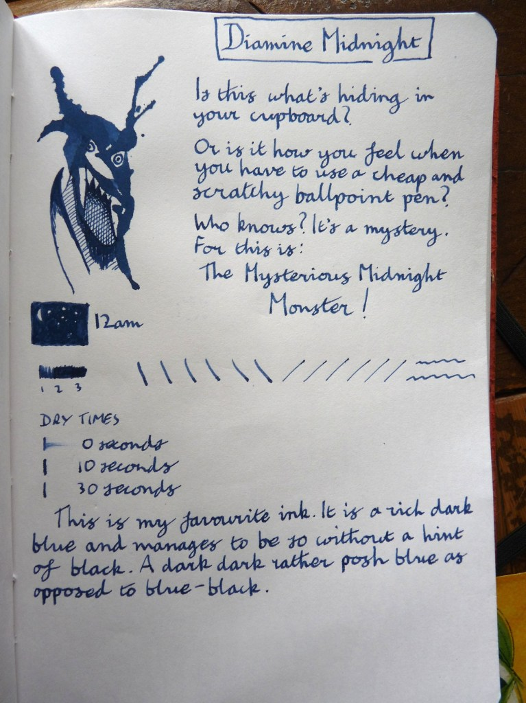 Diamine Midnight ink review