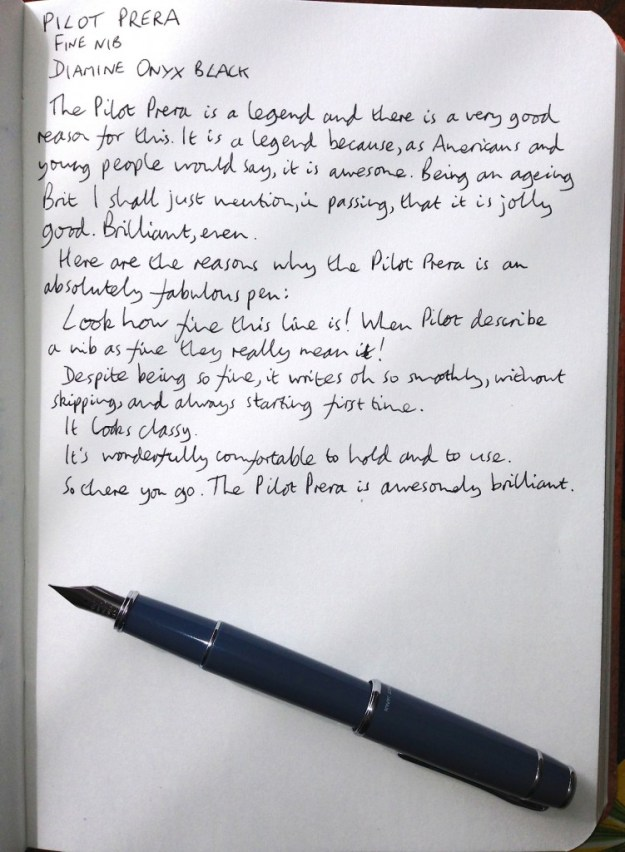 Pilot Prera handwritten review