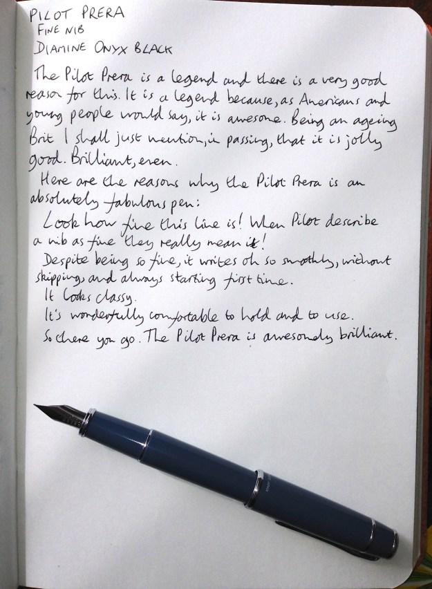Pilot Prera handwritten review