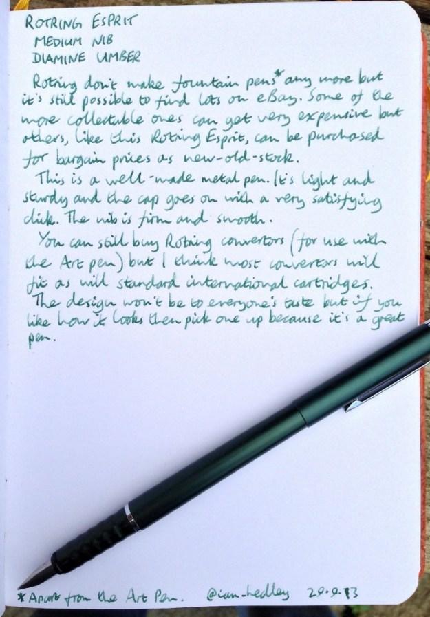 Rotring Esprit handwritten review