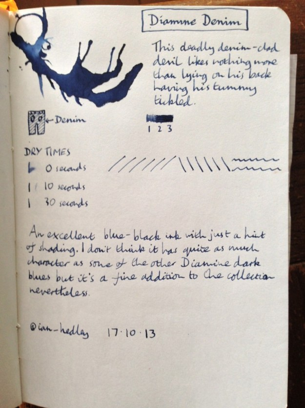Diamine Denim ink review