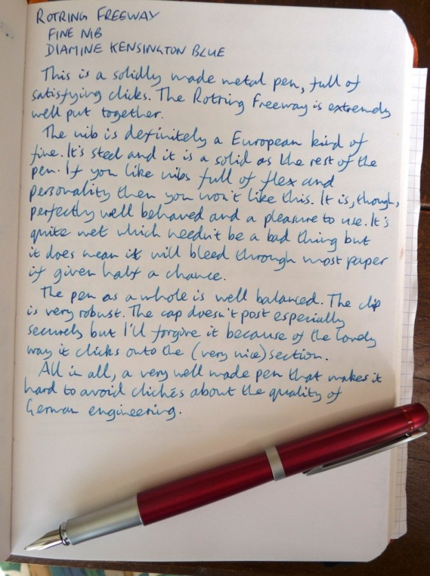 Rotring Freeway handwritten review