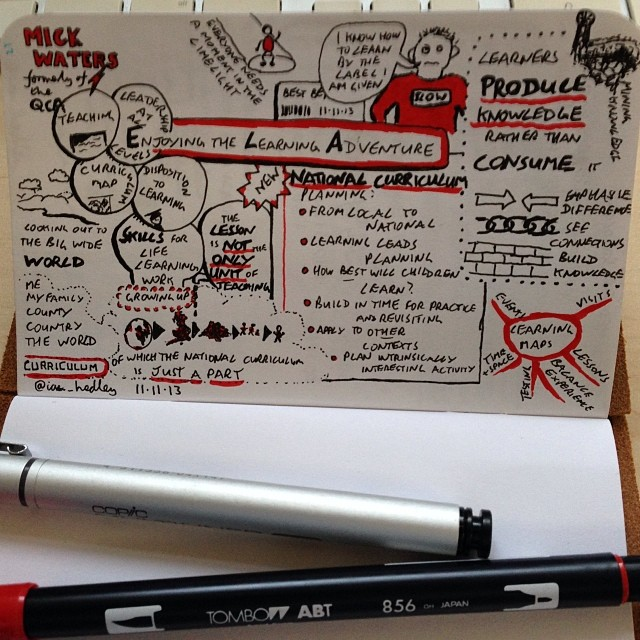 Mick Waters sketchnote