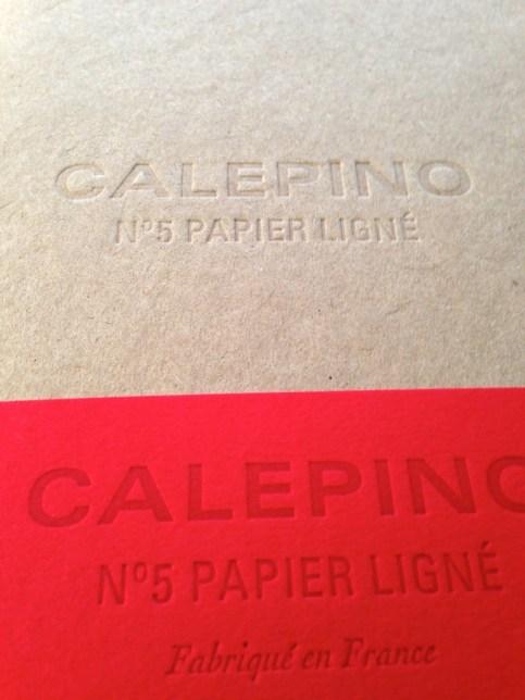 Calepino cover letterpress