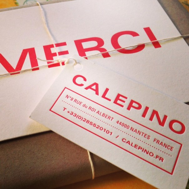 Calepino notebook packaging
