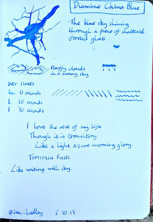 Diamine China Blue ink review