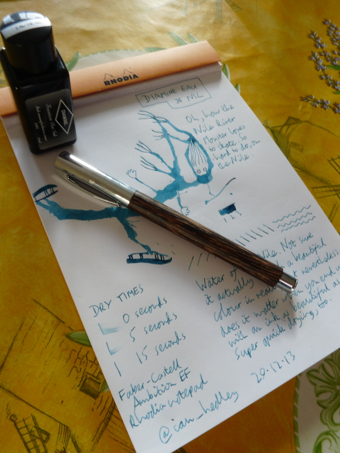 Diamine Eau de Nil ink review