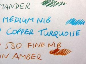 Monsieur fountain pen notebook slight feathering