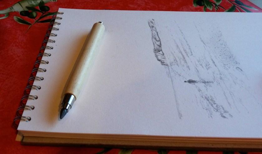 e+m workman long clutch pencil with sketch