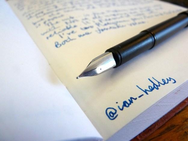 Platignum Vibe fountain pen nib