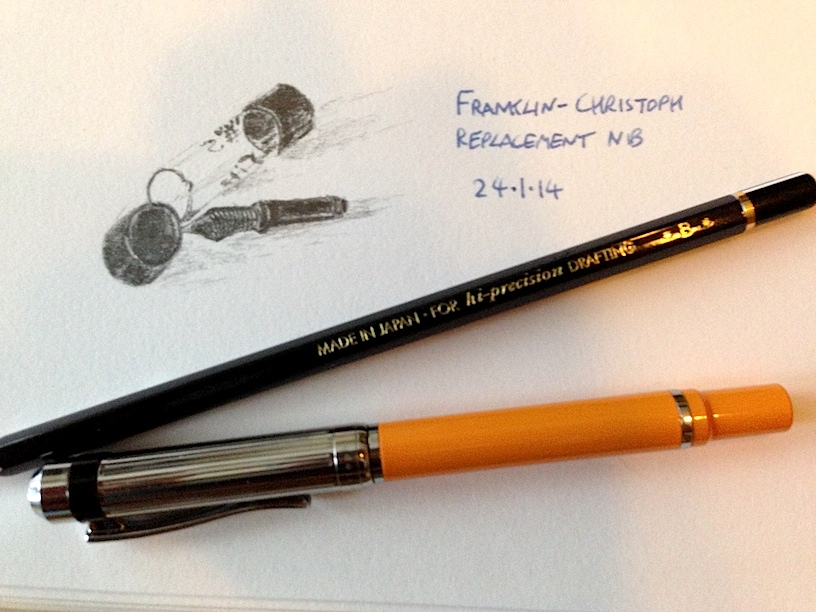 Franklin-Christoph replacement nib sketch