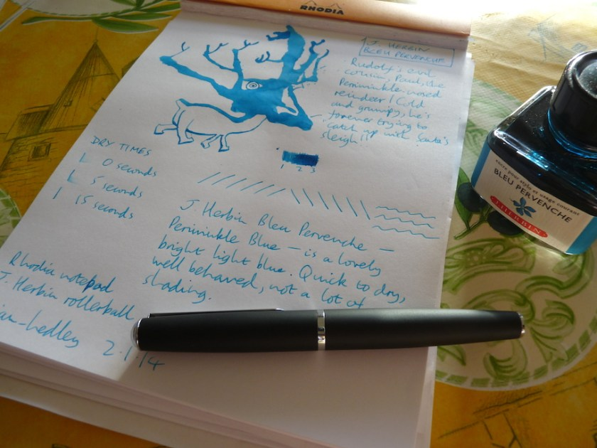 J Herbin Bleu Pervenche ink review