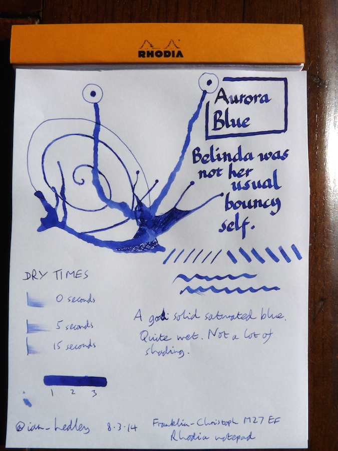 Aurora Blue ink Inkling and review