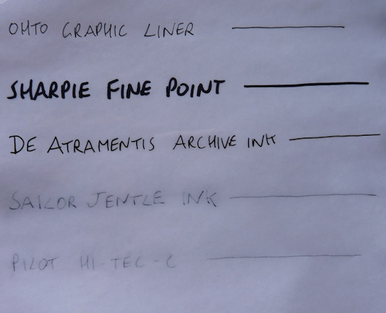 De Atramentis Archive Ink water test wet