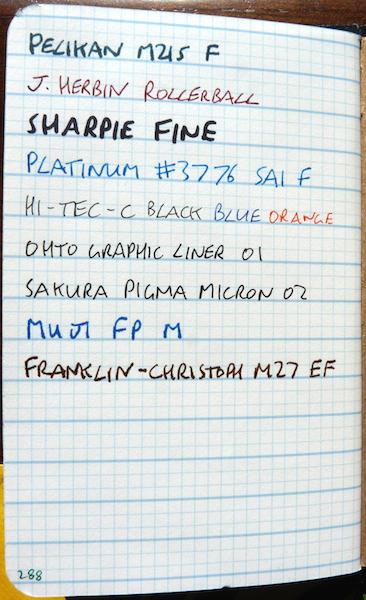 Doane Paper Grid Lines ink test front