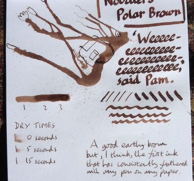 Noodler's Polar Brown Inkling
