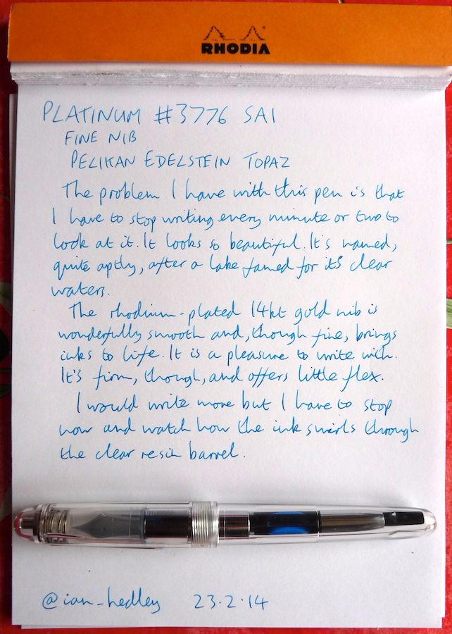 Platinum 3776 Sai handwritten review