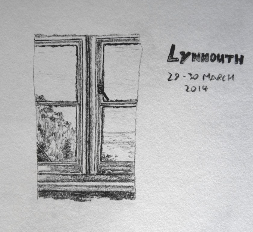 Lynmouth pencil sketch