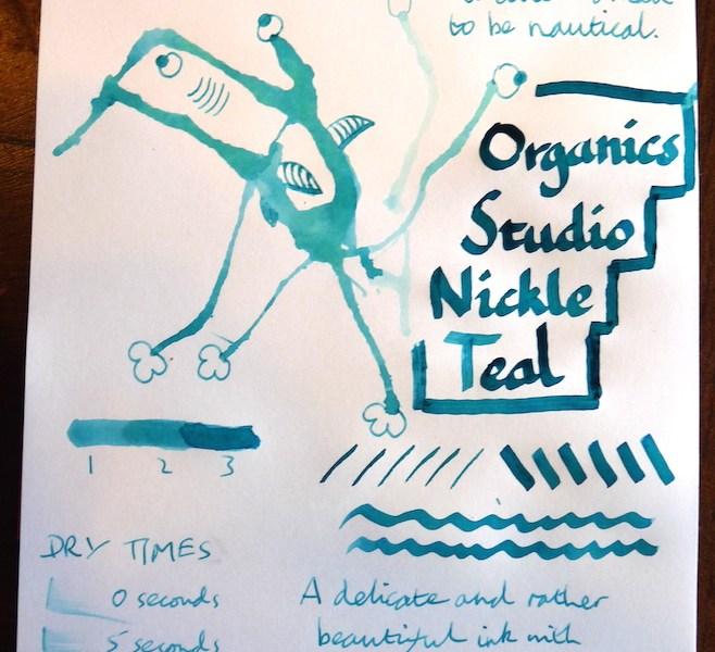 Organic Studio Nickel Teal Inkling doodle