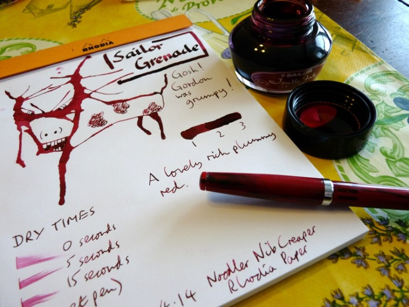 Sailor Jentle Grenade ink review