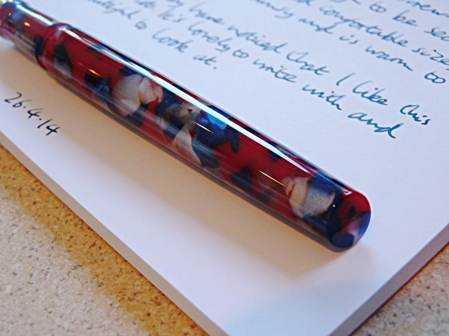 Twiss Patriotic Acrylic fountain pen end