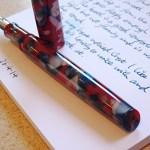 Twiss Patriotic Acrylic fountain pen unposted