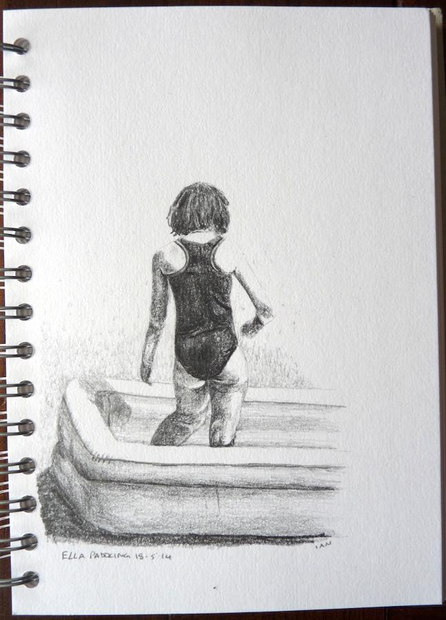 Ella paddling