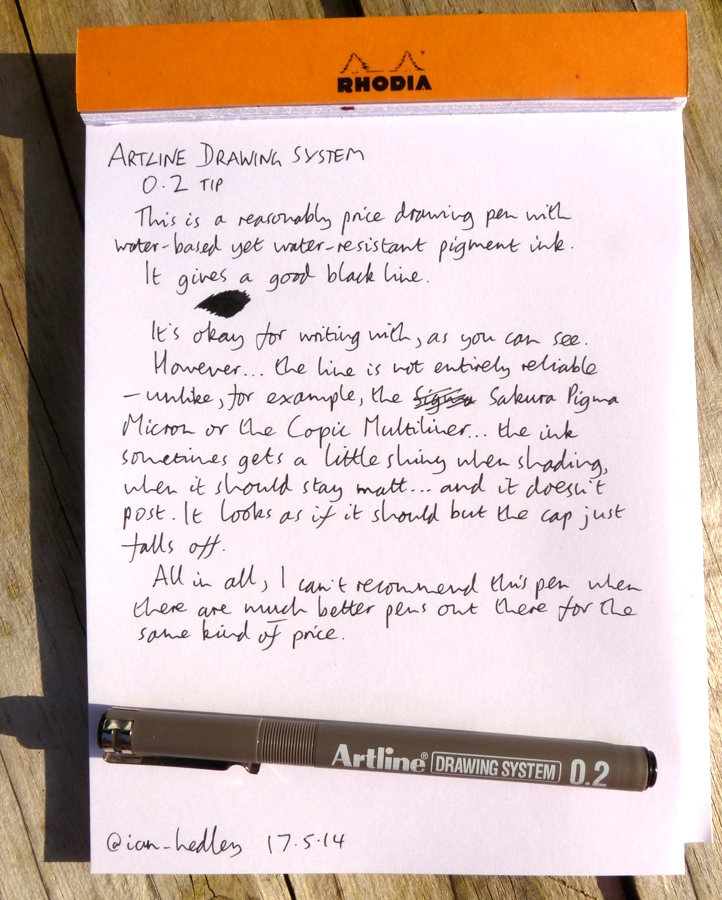 Artline Drawing System drawing pen handwritten review